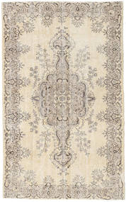 Colored Vintage Rug 161X263 Authentic  Modern Handknotted Light Grey/Beige (Wool, Turkey)