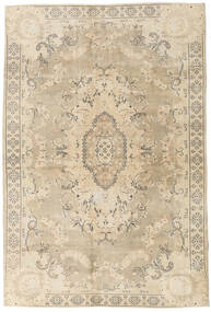 Colored Vintage Rug 203X304 Authentic Modern Handknotted Beige/Light Grey (Wool, Turkey)