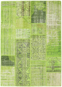 Patchwork Rug 160X228 Authentic  Modern Handknotted Light Green/Olive Green (Wool, Turkey)