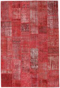 Patchwork Rug 204X302 Authentic  Modern Handknotted Dark Red/Crimson Red (Wool, Turkey)