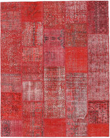 Patchwork Rug 202X255 Authentic  Modern Handknotted Rust Red/Dark Red (Wool, Turkey)