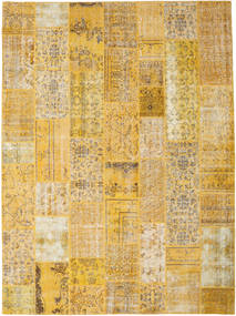 Patchwork Rug 275X372 Authentic  Modern Handknotted Yellow/Light Brown Large (Wool, Turkey)