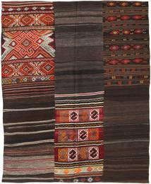 Kilim Patchwork Rug 207X239 Authentic  Modern Handwoven Dark Brown (Wool, Turkey)