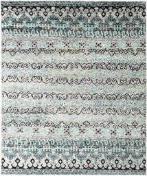 Quito - Grey Rug 240X290 Authentic  Modern Handknotted Light Grey/Turquoise Blue (Silk, India)