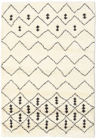 Berber Indo - Off-White/Black Rug 120X180 Authentic  Modern Handknotted Beige/White/Creme (Wool, India)