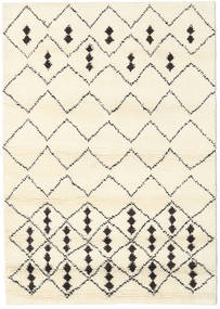 Berber Indo - Off-White/Black Rug 140X200 Authentic  Modern Handknotted Beige/White/Creme (Wool, India)