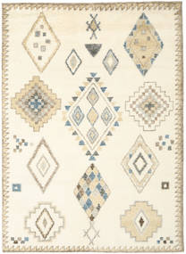 Berber Indo - Off White/Beige Rug 210X290 Authentic  Modern Handknotted White/Creme/Beige (Wool, India)