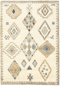 Berber Indo - Off White/Beige Rug 140X200 Authentic  Modern Handknotted Beige/White/Creme (Wool, India)