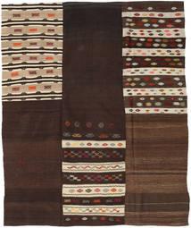 Kilim Patchwork Rug 208X253 Authentic  Modern Handwoven Dark Brown/Beige (Wool, Turkey)