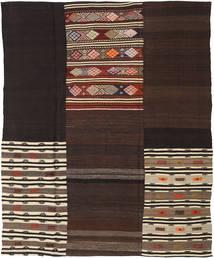 Kilim Patchwork Rug 208X259 Authentic  Modern Handwoven Dark Brown/Light Brown (Wool, Turkey)