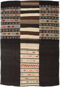 Kilim Patchwork Rug 219X322 Authentic  Modern Handwoven Dark Brown/Beige (Wool, Turkey)