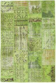Patchwork Rug 161X238 Authentic  Modern Handknotted Light Green/Olive Green (Wool, Turkey)