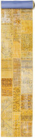 Patchwork Rug 80X610 Authentic  Modern Handknotted Hallway Runner  Dark Beige/Yellow (Wool, Turkey)