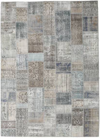 Patchwork Rug 253X353 Authentic  Modern Handknotted Light Grey/Dark Grey Large (Wool, Turkey)