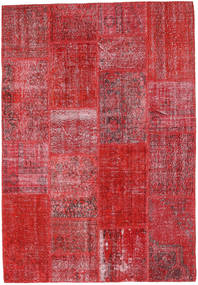 Patchwork Rug 160X231 Authentic  Modern Handknotted Crimson Red/Rust Red (Wool, Turkey)