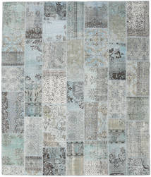 Patchwork Rug 251X298 Authentic Modern Handknotted Light Grey/Turquoise Blue Large (Wool, Turkey)