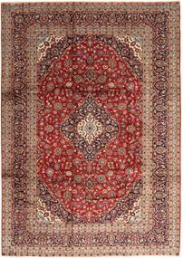 Keshan Rug 247X350 Authentic  Oriental Handknotted Dark Red/Dark Brown (Wool, Persia/Iran)