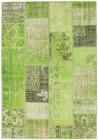 Patchwork Rug 161X232 Authentic  Modern Handknotted Light Green/Green  (Wool, Turkey)