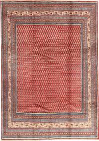 Sarouk Mir Rug 213X305 Authentic  Oriental Handknotted Dark Red/Rust Red (Wool, Persia/Iran)