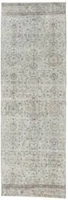 Colored Vintage Rug 91X271 Authentic  Modern Handknotted Hallway Runner  Light Grey (Wool, Turkey)