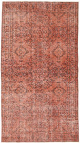 Colored Vintage Rug 116X211 Authentic  Modern Handknotted Dark Red/Light Pink (Wool, Turkey)