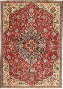 Tabriz Patina Rug 230X328 Authentic  Oriental Handknotted Dark Brown/Dark Red (Wool, Persia/Iran)