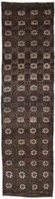 Colored Vintage Rug 74X271 Authentic  Modern Handknotted Hallway Runner  Dark Brown (Wool, Turkey)