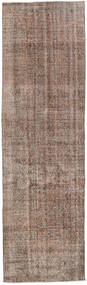 Colored Vintage Rug 81X274 Authentic  Modern Handknotted Hallway Runner  Light Grey/Brown (Wool, Turkey)