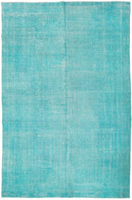 Colored Vintage Rug 201X306 Authentic  Modern Handknotted Turquoise Blue/Turquoise Blue/Light Blue (Wool, Turkey)