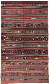 Kilim Turkish Rug 181X304 Authentic  Oriental Handwoven Dark Red/Dark Grey (Wool, Turkey)