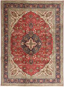Tabriz Rug 253X343 Authentic  Oriental Handknotted Dark Brown/Brown Large (Wool, Persia/Iran)