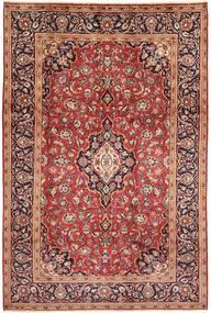 Keshan Rug 198X303 Authentic  Oriental Handknotted Dark Red/Light Brown (Wool, Persia/Iran)