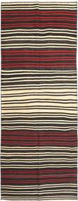 Kilim Fars Rug 155X407 Authentic  Oriental Handwoven Hallway Runner  Black/Dark Brown (Wool, Persia/Iran)