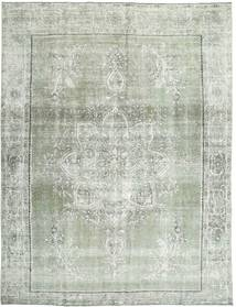Colored Vintage Rug 283X360 Authentic  Modern Handknotted Light Grey/Pastel Green/Beige Large (Wool, Persia/Iran)