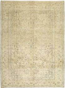 Colored Vintage Rug 284X383 Authentic  Modern Handknotted Dark Beige/Beige/Olive Green Large (Wool, Persia/Iran)