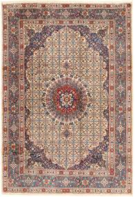 Moud Rug 198X288 Authentic  Oriental Handknotted Dark Red/Light Brown (Wool, Persia/Iran)
