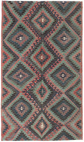 Kilim Turkish Rug 171X295 Authentic  Oriental Handwoven Dark Grey/Black (Wool, Turkey)