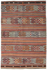 Kilim Turkish Rug 188X280 Authentic  Oriental Handwoven Dark Red/Light Grey (Wool, Turkey)