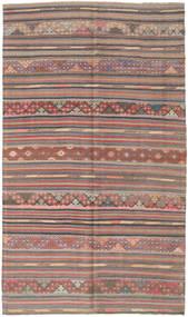 Kilim Turkish Rug 163X280 Authentic  Oriental Handwoven Dark Grey/Brown (Wool, Turkey)