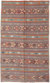 Kilim Turkish Rug 180X305 Authentic  Oriental Handwoven Brown/Dark Brown (Wool, Turkey)