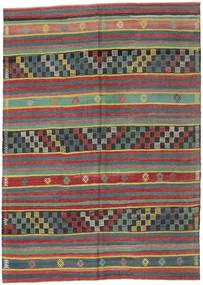 Kilim Turkish Rug 180X248 Authentic  Oriental Handwoven Dark Red/Light Blue (Wool, Turkey)