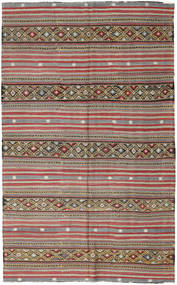 Kilim Turkish Rug 172X278 Authentic  Oriental Handwoven Dark Grey/Dark Red (Wool, Turkey)