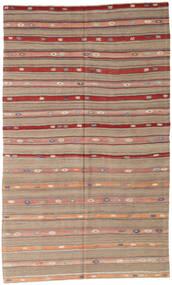 Kilim Turkish Rug 162X274 Authentic  Oriental Handwoven Light Grey/Brown/Light Brown (Wool, Turkey)