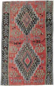 Kilim Turkish Rug 163X261 Authentic  Oriental Handwoven Dark Red/Light Grey (Wool, Turkey)