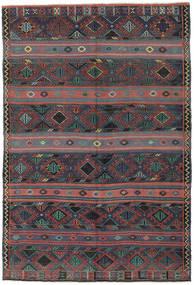 Kilim Turkish Rug 168X250 Authentic  Oriental Handwoven Dark Grey/Dark Red (Wool, Turkey)