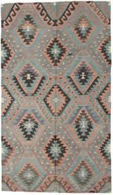 Kilim Turkish Rug 176X307 Authentic  Oriental Handwoven Light Grey/Dark Brown (Wool, Turkey)