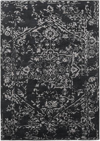 Orient Express - Black Rug 210X290 Authentic  Modern Handknotted Black/Dark Grey (Wool/Bamboo Silk, India)