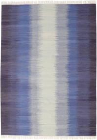 Ikat - Dark Blue Rug 210X290 Authentic  Modern Handwoven Light Grey/Purple (Wool, India)