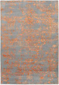 Orient Express - Grey/Orange Rug 160X230 Authentic Modern Handknotted Light Grey/Dark Grey (Wool/Bamboo Silk, India)