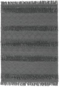 Kilim Berber Ibiza - Soft Grey Rug 140X200 Authentic  Modern Handwoven Black/Blue (Wool, India)